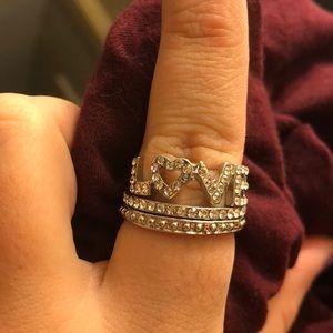 Torrid Silver Ring Set